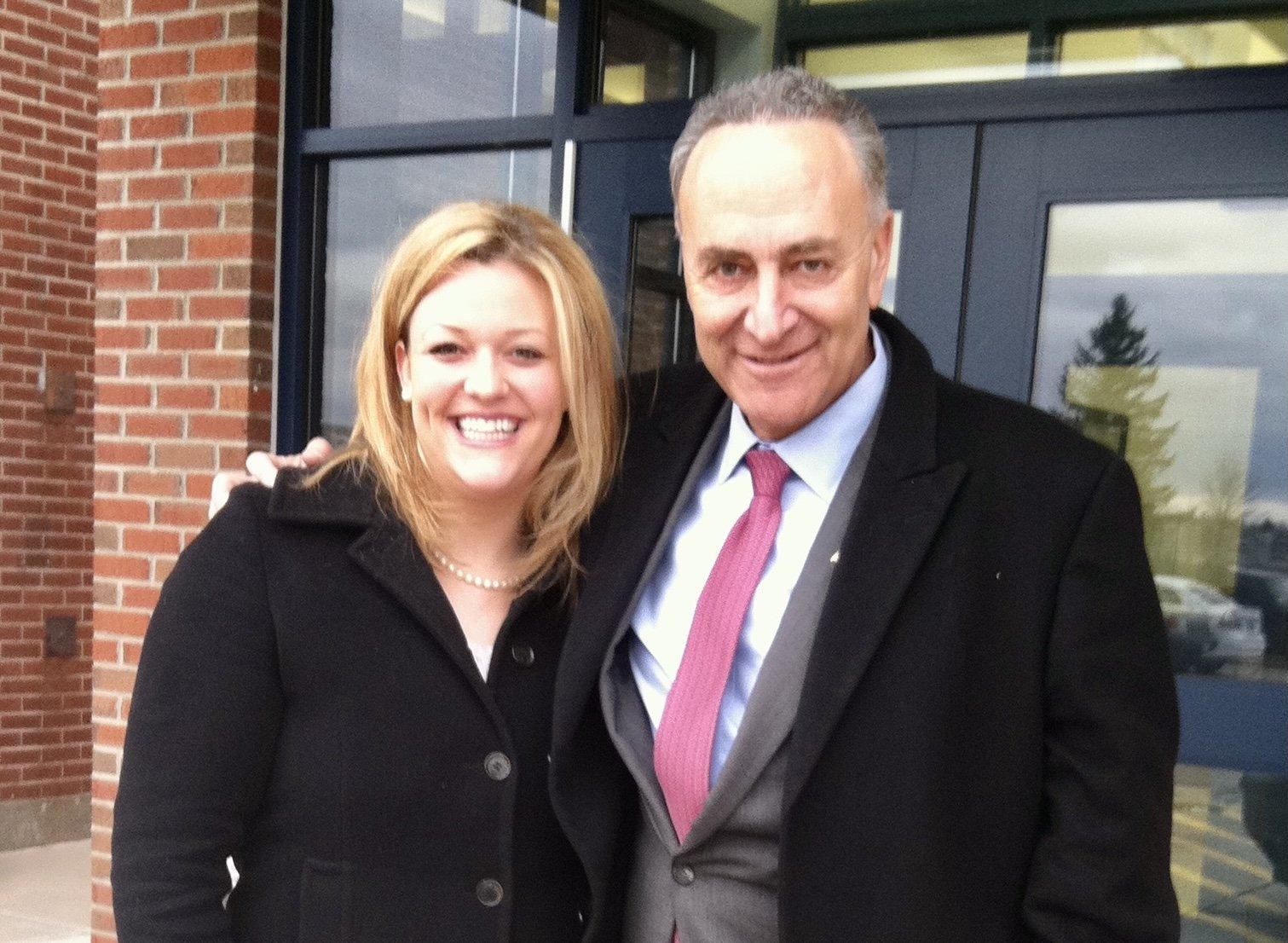 Julie and Senator Schumer
